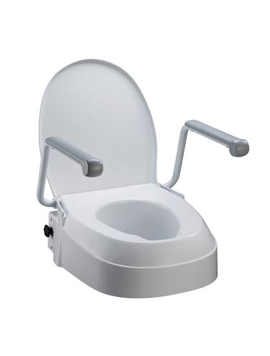 Awe Inspiring Homecraft Raised Toilet Seat With Armrests Three Fixed Gmtry Best Dining Table And Chair Ideas Images Gmtryco