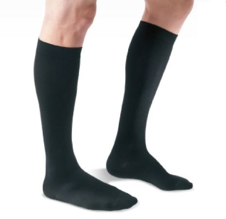 Oppo-2828-Knee-High-Compression-Stockings-Mens-Closed-Toe-Black-Size-1-18-21-mmHg-(OPP-2828-1MBLK)