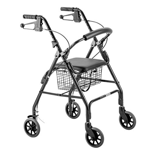Days-Seat-Walker-with-Handbrakes-and-Curved-Backrest-Black-(MFI-MOBWAL70168)